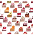 Seamless pattern with fruit cake slices Different vector image vector image