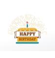 Happy Birthday typographic set design vector image
