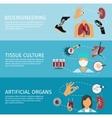 Biotechnology Banner Set vector image