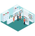 colorful isometric pharmacy concept vector image