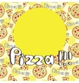 Doodle style pizza seamless cover fore menu vector image