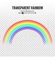 rainbow classic round shape realistic vector image
