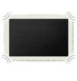 Retro photo frame with figured edges in photoalbum vector image