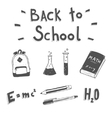 Back to school Hand drawn doodle set vector image