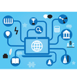 Education in the social network vector image