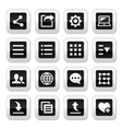 Menu settings tools buttons set vector image vector image
