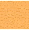 Orange wavy seamless pattern vector image vector image