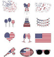 American symbols stickers style vector image