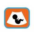 Stylish flat icon on white background baby on vector image
