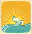 sunrise seascape vector image