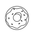 Donut icon Sweet design graphic vector image