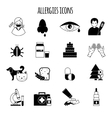 Allergies Icons Black vector image