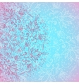 blue background for text with floral ornament vector image
