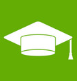 cap student icon green vector image