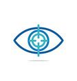 eye circle eyeball symbol vector image