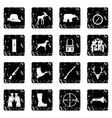 Hunting icons set simple style vector image
