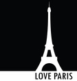 love paris black silhouette vector image