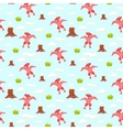 Pterodactyl kid seamless pattern for vector image