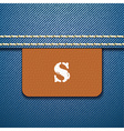 S size clothing label - vector image