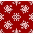Seamless Pattern of White Snowflakes on a vector image