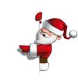 Smilling Santa Blank Label Pointing vector image
