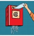 Spam trash junk email vector image