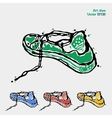 Symbol of sports shoes Logo for running Sneakers vector image