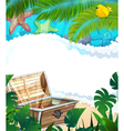 Treasure Chest on the tropical coast vector image