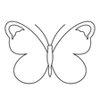 Nice butterfly icon outline style vector image