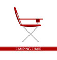 camping chair icon vector image vector image