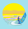 windsurfer on the wave vector image