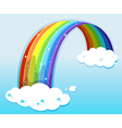 A sky with a sparkling rainbow vector image vector image