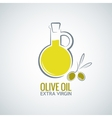 olive oil background vector image