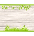 Wood fence with grass vector image