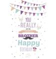 Inspirational invitation birthday card vector image