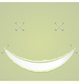 a smile on paper vector image vector image