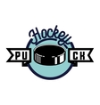 Color vintage Hockey emblem vector image