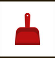 flat red dustpan icon logo isolated on white vector image