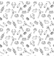 Hand drawn artistic meat seamless pattern for vector image