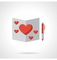 Love greeting flat color icon vector image