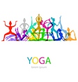 Yoga poses woman silhouette vector image