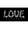 Love diamond icon vector image