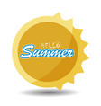 hello summer 3 vector image