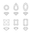 diamond and gemstone shapes vector image