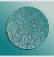 traditional floral mandala paper cut design vector image