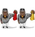 Football Referee with Flag and Whistle vector image