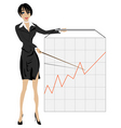 business woman presenting vector image