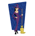 cartoon witch vector image vector image