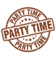 party time brown grunge round vintage rubber stamp vector image