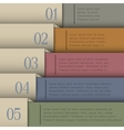 Design template in retro colors vector image vector image